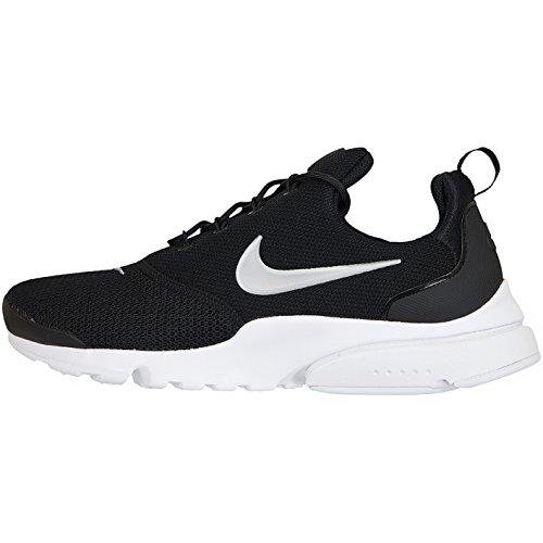 Nike Presto Fly, Chaussures de Fitness Femme Multicolore (Black/Metallic Silver-white 011)