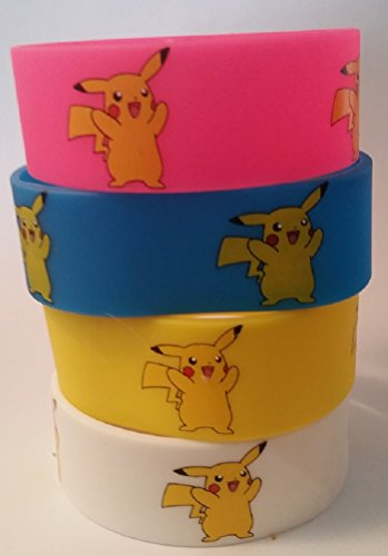 Pokemon Pikachu Silicone Bracelets Wristbands Collection (All 4 (Pikachu Hoodie For Sale)