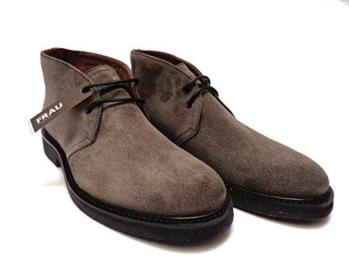 Frau 74F2 scarpe casual da uomo in camoscio col. Ebano, n. 39