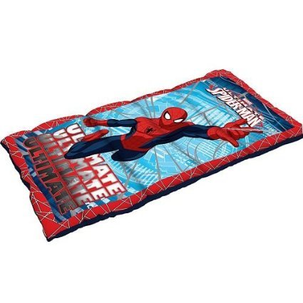 Spiderman Youth Sleeping Bag 28 x 56-Inch Marvel Ultimate - Costumed Characters For Kids Party
