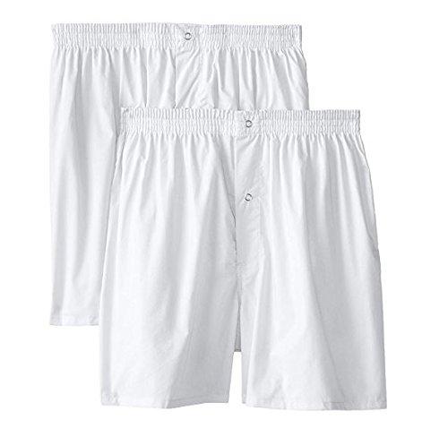 Munsingwear Men's 2-Pack Gripper Woven Boxer,White,2x