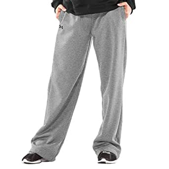 Under Armour Women's Team Armour Fleece Pant (True Gray Heather, 2X-Large)