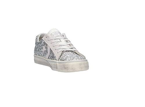 Converse - Zapatillas para Hombre Plateado Blanco 41.5 EU: Amazon.es: Zapatos y complementos
