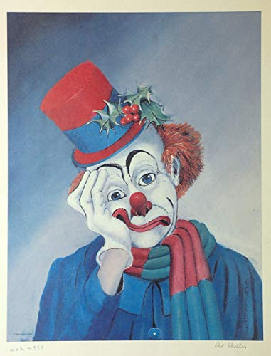 - Bright Colors Red Skelton Fine Art Signed Lithograph Clown Framed