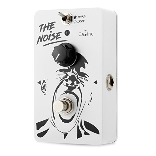 Caline Mini Noise Gate Pedal Electric Guitar Noise Reduction Effect Pedal True Bypass Aluminum Alloy Housing CP-39 The Noise, White