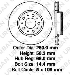 - SHIPS FROM USA!!-Tax Incl. Front Rotors 2 OEM Replacement Great-Life Premium Disc Brake Rotors 5lug C70 S70 V70 850 S90 V90 960
