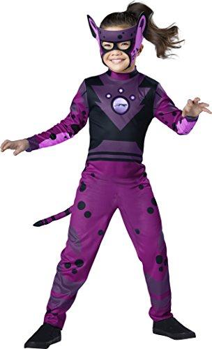 Wild Kratts Cheetah Costume, Purple/Black, (Cheetah Costume For Girl)