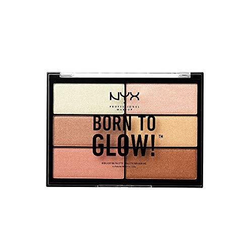 - NYX PROFESSIONAL MAKEUP Born To Glow Highlighting Palette, 0.19 Ounce