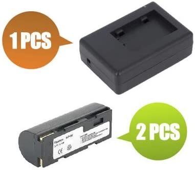 1x Charger Replacement for Ricoh RDC-7S BattPit trade; New 2x Digital Camera Battery 1400 mAh