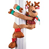 Collections Etc Poseable Reindeer Christmas Greeter Decoration