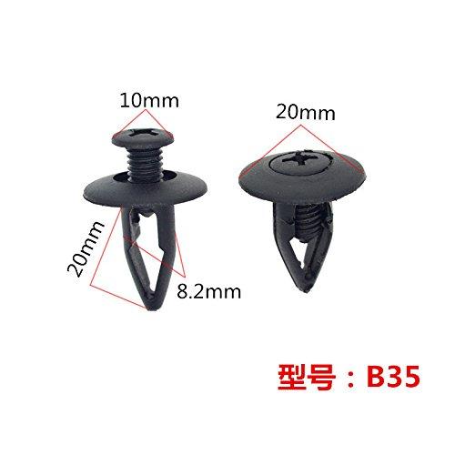 10x Rivets Clips Bavettes Garde-boue Fixation Push Na01-56-145 Pour Nissan Mazda Pi/èce