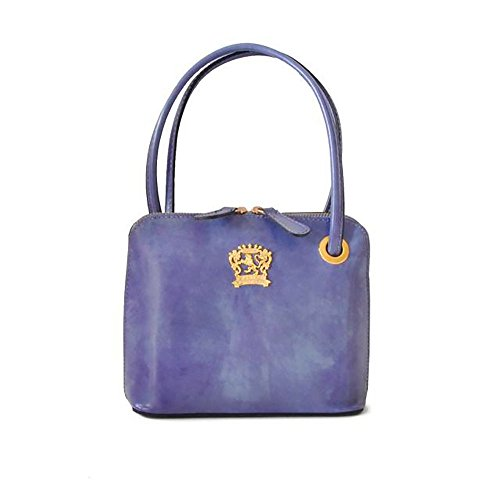 Pratesi Womens Italian Leather Roccastrada Woman Bag in Cow Leather in Violet by Pratesi