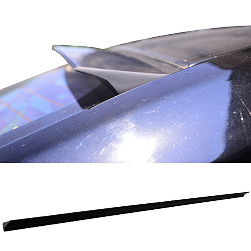 Roof Spoiler Fits 1999-2004 VW Jetta MK4 | VRS Style PUF Unpainted Black Rear Window Roof Window Visor Spoiler Wing Other Color Available By IKON MOTORSPORTS | 2000 2001 2002 2003 - 2003 Jetta Wings