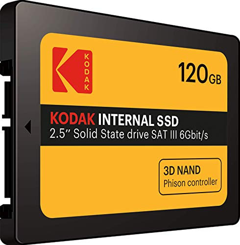 Kodak Internal SSD X150, Yellow, 120GB $27.99