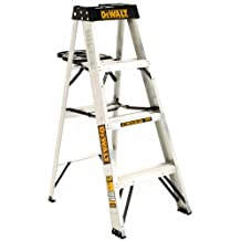 DeWalt DXL2010-04 Aluminum Step Ladder Type IA, 300-Pound Duty Rating, 4-Foot