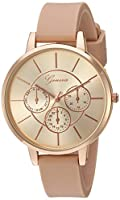 Geneva Women's Quartz Metal and Silicone...
