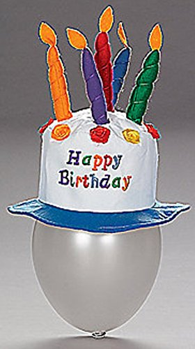 - Fun Express Felt Childs Party Happy Birthday Cake Hat with Candles