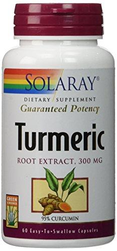 Solaray Turmeric Root Extract, 60 Caps 300 mg