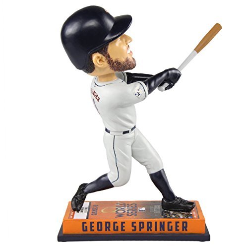 Base Bobble Head - FOCO George Springer Houston Astros 2017 World Series Champions Ticket Base Bobblehead