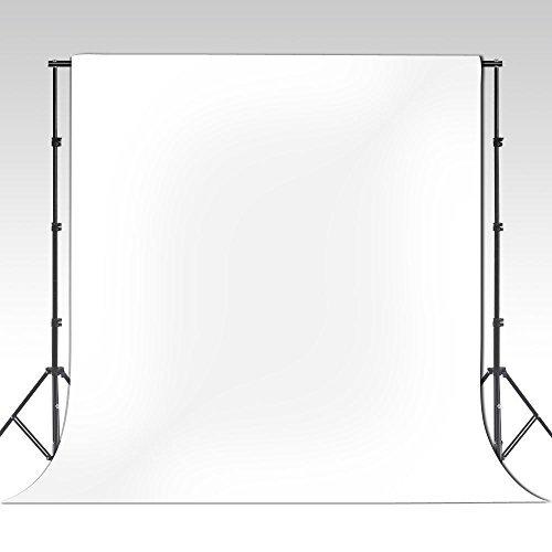 ePhotoinc 10 x 16 ft White Photography Video Muslin Backdrop 100% Cotton Photo Studio Portrait Background 1016W