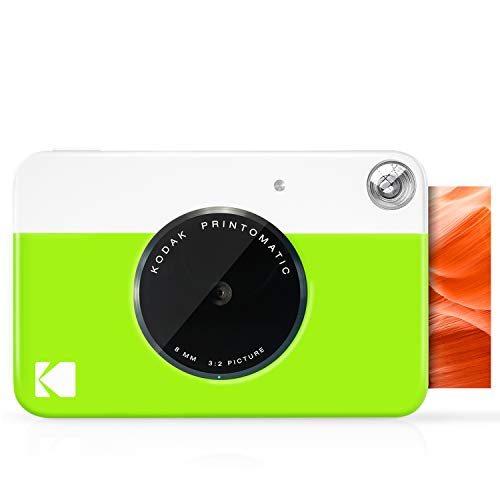 KODAK Printomatic Digital Instant Print Camera – Full Color Prints On ZINK 2×3″ Sticky-Backed Photo Paper (Green) Print Memories Instantly