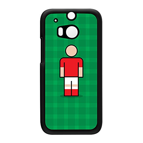 Nottingham Red Black Hard Plastic Case for HTC? One M8 by Blunt Football + FREE Crystal Clear Screen Protector