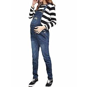 Adjustable Denim Bib Maternity Overall XS-XXL