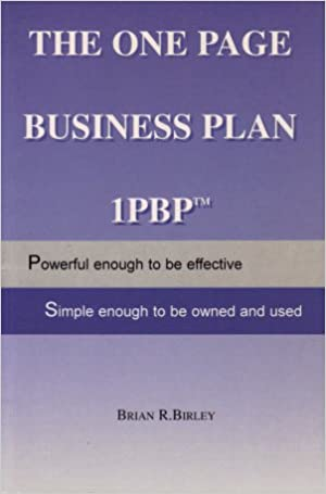 one page business plan brian birley
