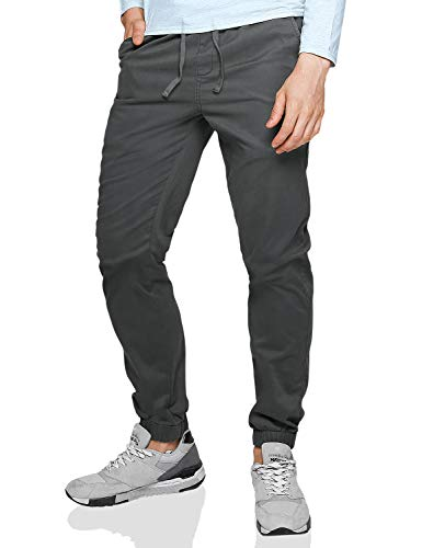 Fit Match - Match Men's Loose Fit Chino Washed Jogger Pant (42, 6566 Dark Gray)