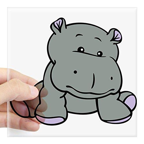 CafePress Hippo Baby Square Sticker 3