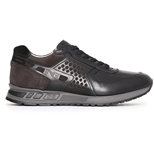 Nero Giardini 05340 Nero Scarpa Uomo Sneaker Pelle Made in Italy