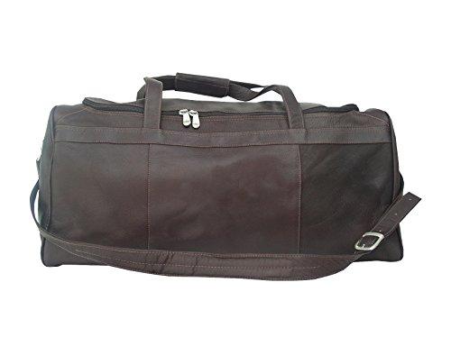 Piel Leather Traveler's Select Medium Duffel Bag in Chocolate