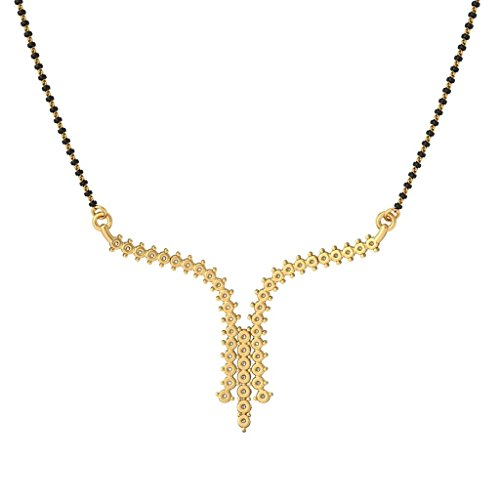 Or jaune 18K 0,91carat au total White-diamond (IJ   SI) Mangalsutra