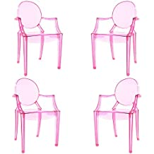 Poly and Bark Burton Arm Chair In Pink, Set of 4
