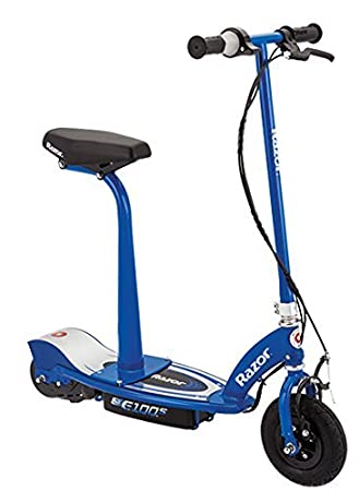 Razor Electric Scooter With Seat >> Razor E100s Seated Electric Scooter Blue