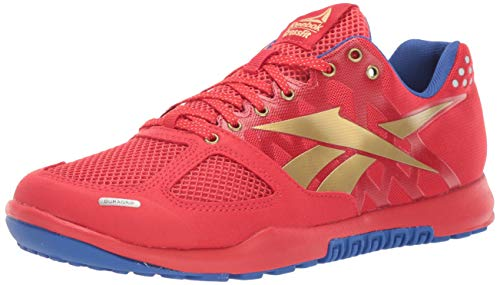 Reebok Women's CROSSFIT Nano 2.0 Cross Trainer, Primal Red/Crushed Cobalt/True Gold/White, 8 M US