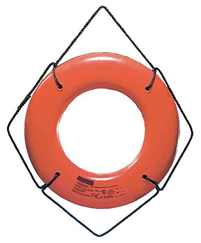 Jim-Buoy JBO-X-24 U.S.C.G. Approved JBX-Series Life Ring, Orange, 24