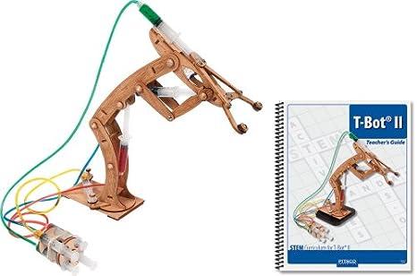 Amazon.com: Pitsco Laser-Cut Basswood T-Bot II Hydraulic Arm with ...