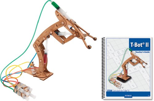 Pitsco Laser-Cut Basswood T-Bot II Hydraulic Arm with Teacher's Guide (Individual Pack)