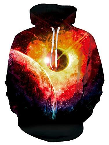 UNIFACO Men Women Planet Hoodies Cute Unisex Long Sleeve Casual Sweatshirt Hoodies for Teen Boy