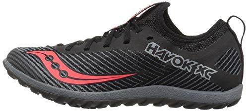 Saucony Women's Havok XC2 Flat Cross Country Running Shoe, Black/Grey/ViziRed, 5 M US by Saucony (Image #5)