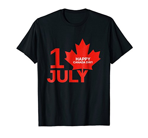 Happy Canada Day 151 Years 1st July Maple Leaf T-Shirt