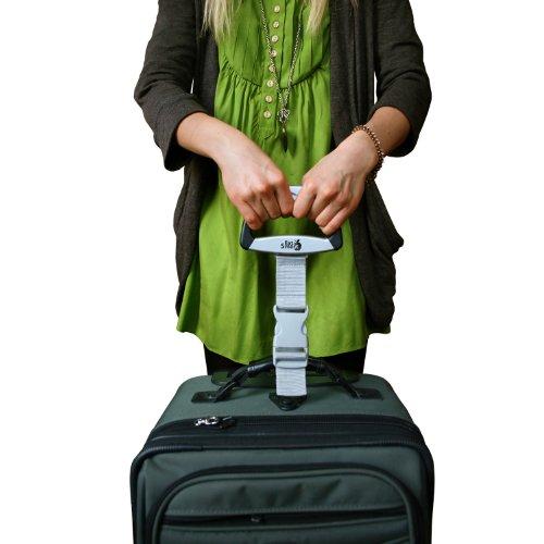 EatSmart Precision Voyager Digital Luggage Scale w/ 110 lb. Capacity & SmartGrip