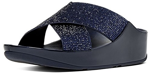 Supernavy Sandalo Di Fitflop Crystall Diapositiva UK3 Supernavy