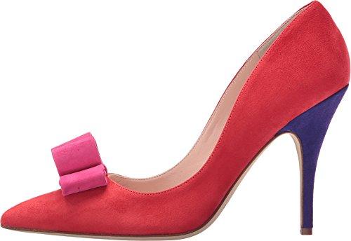 Kate Spade New York Womens Latrice Dress Pump Papavero Rosso / Rosa Swirl Kid Camoscio