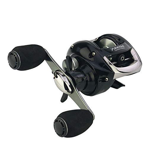 High Speed Baitcasting Fishing Reels Lure Reel Fish Wheel 12+1 Ball Bearings No Gap 6.2:1 Reel Fishing Coil Reel Drag 5.5Kg,Black,13,Left Hand