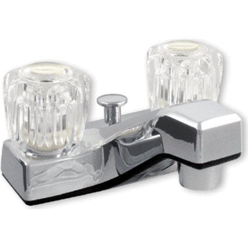 Ldr Faucet Lavatory (LDR 012 4105CP-WS Lavatory Faucet, Dual Acrylic Handle Faucet with Pop Up, AB1953-Lifetime Plastic, Chrome)