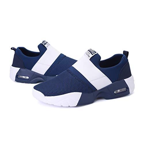 Zapatos de Zapatillas cojín Las Las Azul de Mujeres Mujeres Deportivas Exterior Aire 4vw6q