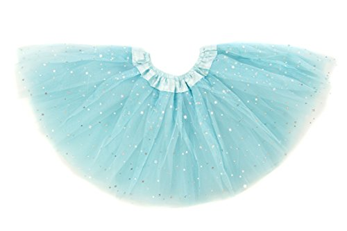 Dancina Tutu Baby Glittery Stars Sequin Ballet Dance Recital Skirt 6-24 Months Light Blue Glitter