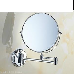 Makeup Mirror European Wall Hung Bathroom Vanity Mounted Folding Retractable C